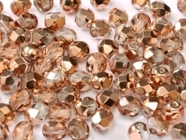 FP Facet 6mm Crystal Capri Gold (per 50 stuks)