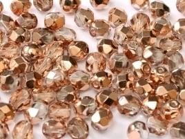FP Facet 6mm Crystal Capri Gold (per 50 stuks)