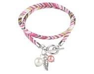 BJA002 wrap armband roze/wit