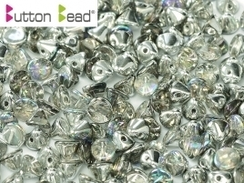 Button Bead® 4mm Crystal Silver Rainbow (per 20)