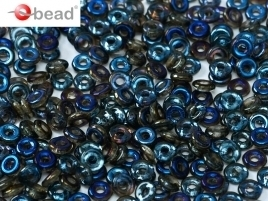 O Beads® 2 x 4 mm Crystal Azuro (per 5 gram)