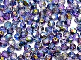 FP Facet 6mm Crystal Magic blue (per 50 stuks)