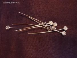 Nietstift bloem zilverkleur