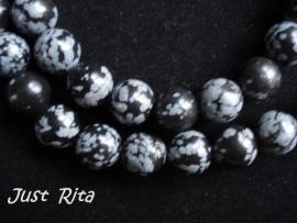 "10 mm ""snowflake"" Obsidiaan"