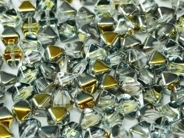 Bicone Beads 6 mm Crystal Marea (per 50)