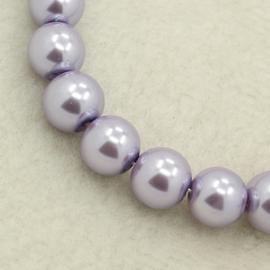 streng Glasparels rond 4mm Lavender
