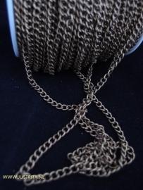 Twist chain 5 x 4mm antiek brons