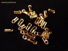 Eindkapje koord 2mm Goudkleur (20 stuks)