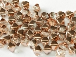 Bicone Beads 6 mm Crystal Capri Gold (per 50)
