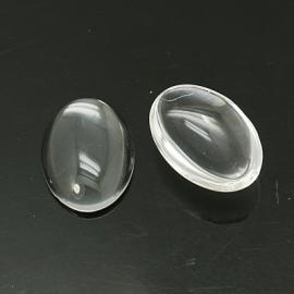 Cabochon helder glas 13 x 18 mm