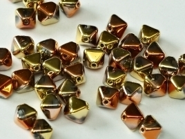 Bicone Beads 6 mm Crystal California Gold Rush (per 50)