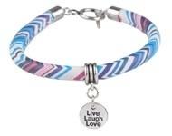 BJA007 armband blauw/wit/roze