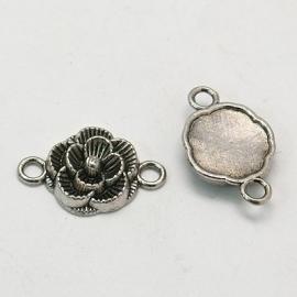 Tussenzetsel bloem zilver
