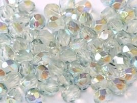 FP Facet 6mm Crystal Blue Rainbow (per 50 stuks)