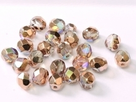FP Facet 6mm Crystal Copper Rainbow (per 50 stuks)