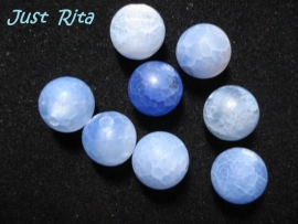 Frosted Agate 10 mm blauw