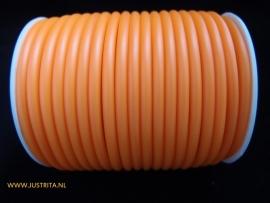 Rubber koord 4 mm hol Oranje