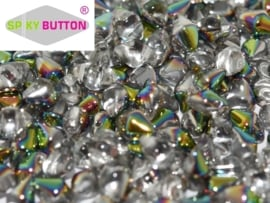Spiky Button® 4,5 x 6,5 mm Crystal Vitrail (per 18)