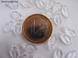 Cbla04 blaadje helder glas 12 x 6.5 x 3 (45 stuks)