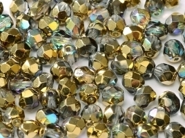 FP Facet 6mm Golden Rainbow (per 50 stuks)