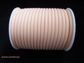 Rubber koord 4 mm hol Peach
