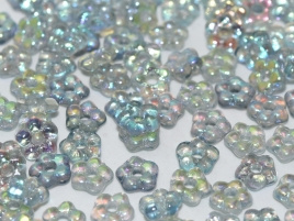 flower Beads 5mm Crystal Blue Rainbow (50 stuks)
