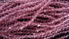 1 streng kristallen bicones 4 mm middenpaars