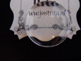 Cabochon helder glas 25 mm