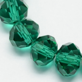 Rondellen 3 x 4 mm Transparent Sea Green