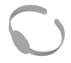 Zilverkleurige armband met plakvlak