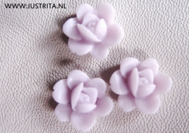 Roosje zacht lila 13mm 8 stuks