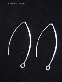 Oorhaken 41 mm Sterling zilver
