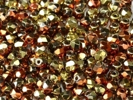 FP Facet 3mm Crystal California Gold Rush (per 50)