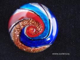 """G 20 Hangemaakte Glas cabochon """"swirl"""""""