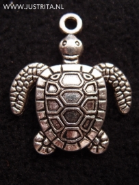 mb008 metalen bedel schildpad