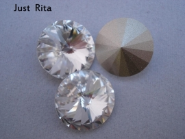 "1122  Swarovski rivoli Crystal ""Clear"" 14mm"