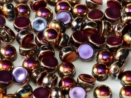 2-hole Cabochon 6 mm Crystal Full Sliperit (per 8)