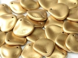 Rose Petals 14 x 13 mm Aztec Gold (per 10)