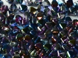Bicone Beads 6 mm Crystal Magic Blue (per 50)