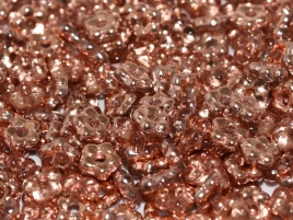 Flower Beads 5mm Crystal Capri Gold (50 stuks)