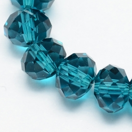 Rondellen 3 x 4 mm Transparent Teal