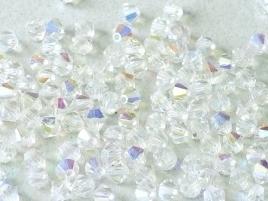 MC Bicone 4mm Crystal AB (per 10)
