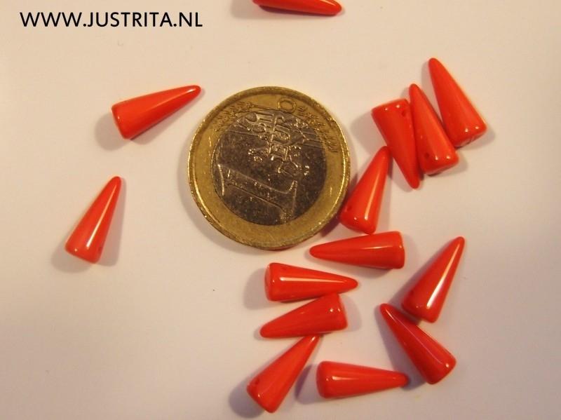 Csp01 koraal rood 5 x 13 mm 15 stuks