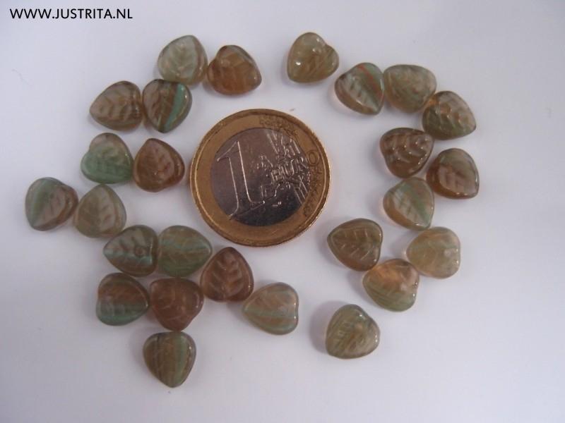 Cbla02 Groen gemeleerd blaadje 9 x 8.5 x 3 (35 stuks)
