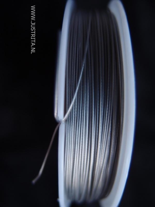 Staaldraad Tiger tail 0,45 mm