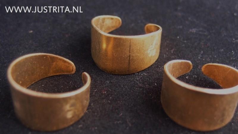 Cuff ring beadwork goudkleur
