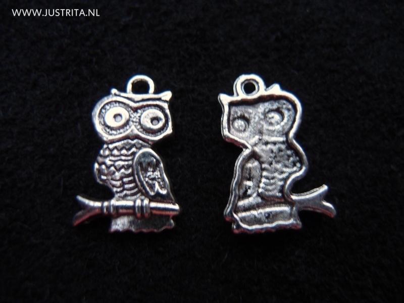 mb002 bedel uil Tibetaans zilver