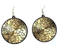 BJO002 oorbellen zwart/goud