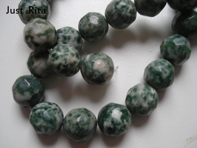 Tree Agaat 12mm facet / Tree Agate 12mm faceted