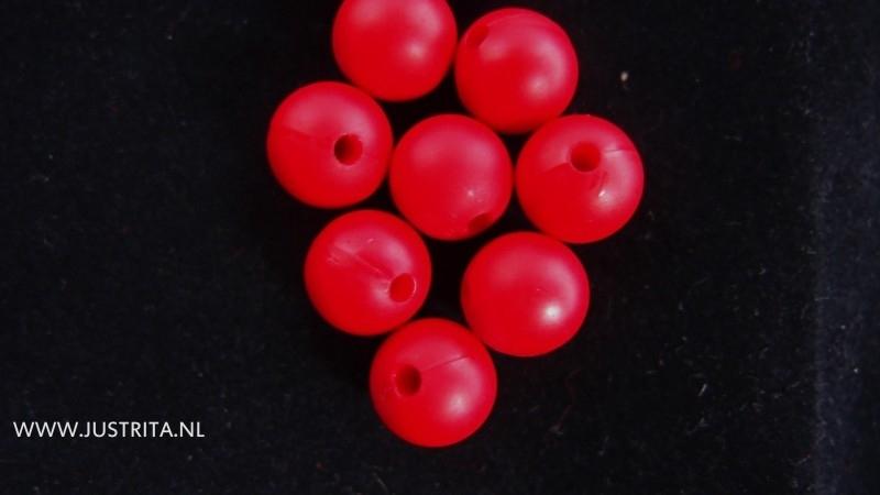 10 x matte acryl kraal 10 mm rood